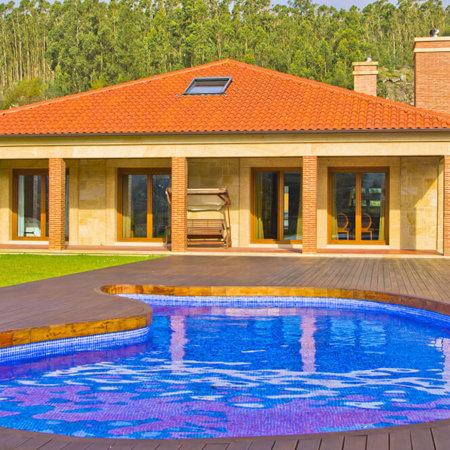 Alquiler casa verano galicia Casa-y-piscina1